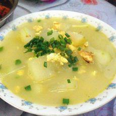 冬瓜鲜蛋减肥汤的做法