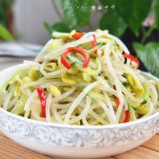 黄瓜拌豆芽的做法