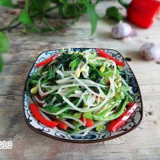 豆芽炒菠菜