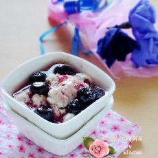 蓝莓甜豆花