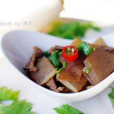 白萝卜炒肉