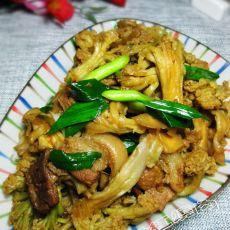 干锅干菜花的做法