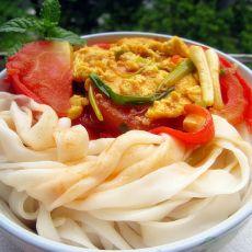 西红柿鸡蛋拌切粉的做法
