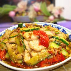 黄瓜炒鱼片