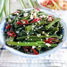 椒油芝麻空心菜
