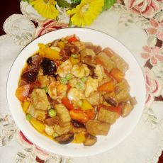 虾仁烧豆腐的做法