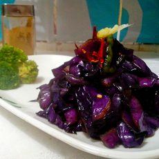 蚝油紫甘蓝――快手菜的做法