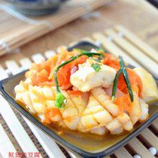 鱿鱼炒豆腐的做法