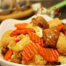 甘笋椰菜炒排骨的做法