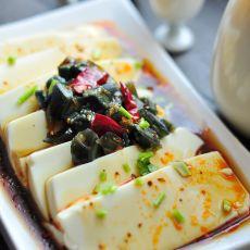 油淋绢豆腐