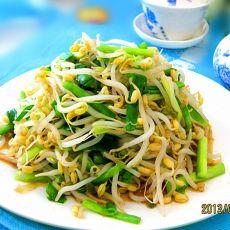 减肥菜——韭菜炒豆芽的做法