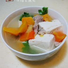 瘦肉红薯豆腐汤