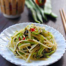 酸菜双豆丝的做法