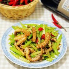 芹菜炒八带鱼的做法