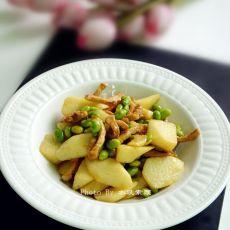 毛豆淮山炒肉丝的做法