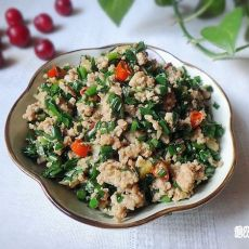 韭菜炒肉末的做法