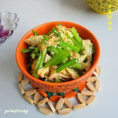 芹菜拌蛋皮