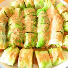 圆白菜蔬菜卷