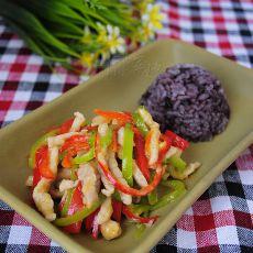 尖椒肉丝二米饭的做法