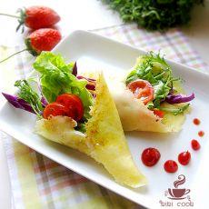 马苏里拉蔬菜沙拉卷的做法