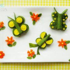 蝴蝶蔬菜蛋饼