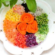 彩虹沙拉的做法