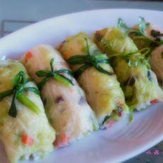 碧玉蔬菜饭卷的做法