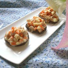 乳酪肉末烤香菇的做法
