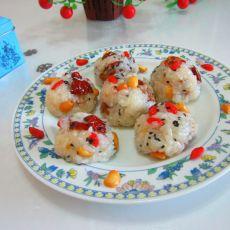 糯米芝麻饭团