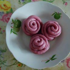 紫色玫瑰小花卷