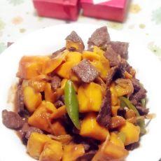 芒果牛肉的做法