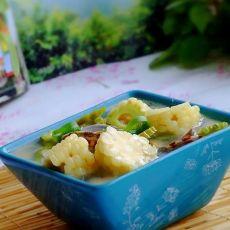 玉米苦瓜花蛤汤