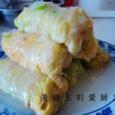 白菜鲜虾卷