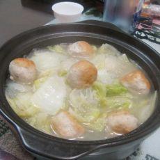 丸子白菜粉丝煲