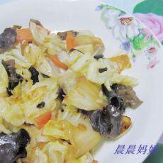 素炒黑木耳白菜