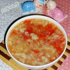 白菜西红柿疙瘩汤