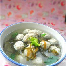 海带肉圆汤