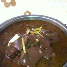 姜丝猪血汤的做法