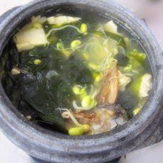 明太鱼皮豆芽汤