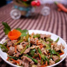 红萝卜芹菜炒肉