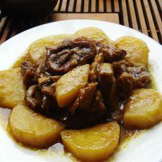 咖哩牛肉焖土豆的做法