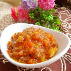 番茄炒牛肉末