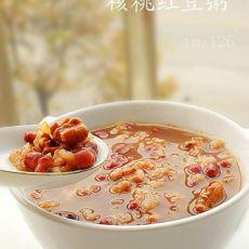 核桃红豆粥
