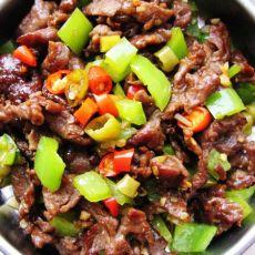 三椒炒牛肉