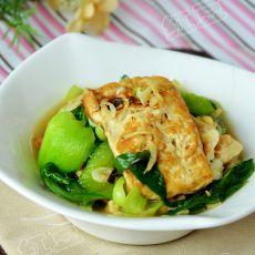 虾皮青菜烧豆腐的做法