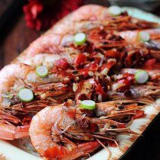 香辣粉丝蒸虾的做法