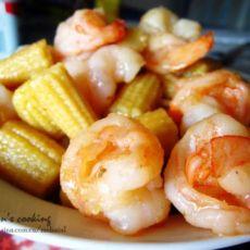清甜玉米笋虾球的做法