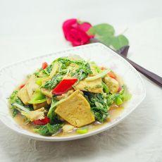 苦菊炒豆腐的做法