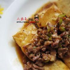 快手待客菜之鲍汁肉末豆腐的做法