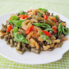 酸豆角炒虾米的做法